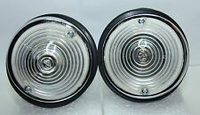2x CLASSIC FIAT 500 D FIAT 600 Kit Anteriore Indicatori Luce Laterale in Alluminio Cromato