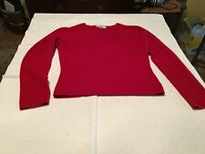 Preppy Women's Red 100% Cashmere Sweater Size M