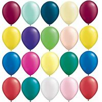 """5,10,25 or 50 QUALATEX 5"""" or 11"""" LATEX BALLOONS Pearl Metallic Solid Colours"""