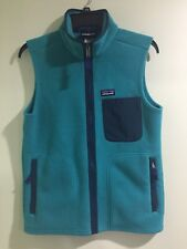 Patagonia Mens Classic Fleece Lightweight Green Vest Size XS