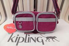 KIPLING Genuine Stunning Unisex Dark Fushia Nani Small Shoulder Body Bag BNWT