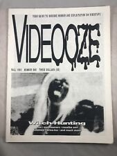 VIDEOOZE MAGAZINE # 1 1990 HORROR WITCH-HUNTING BURIED ALIVE HOUSE THAT SCREAMED