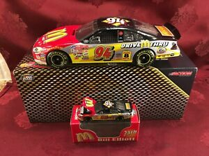 BILL ELLIOTT 2000 #94 McDonalds 25th Ann 1/24 Elite Car 1/64 HO Car Diecast SET
