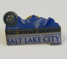 Rotary International Convention 2007 Rocky Mountain Rendezvous Lapel Pin (J614)