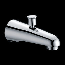 Bathroom Classical Wall Bath Spa Spout with Diverter Brass Chrome
