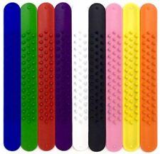TheAwristocrat 9 SPIKY Silicone Slap Bracelets - Rainbow of Colors - Soft & Safe