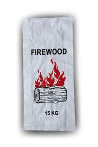 Pack of 100 - Printed Firewood Bags - (37 CM +10 CM) X 80 CM