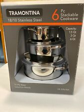 Tramontina Gourmet Tri-Ply Clad Stainless Steel 6 Pc Cookware 6qt 3qt 1.5qt (a)