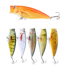 90mm Popper Fishing Lure 18.5g Floating Topwater Fish Bait Artificial Crankbaits
