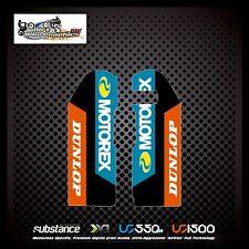 KTM SX 125 250 350 03-06 Dunlop Motorex Lower Fork Blue Decal Sticker MX (498)