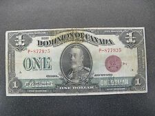 1923 Dominion of Canada $1 Dollars Bank Note Bronze Seal Group 1