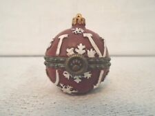 Boyds Bear Joy's Christmas Ornament W/ Spruce McNibble Treasure Box 1E 4034148