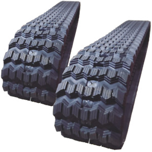 """TWO RUBBER TRACKS FITS Mustang 2500RT Zig Zag Tread 450X86X58 18"""" Wide"""