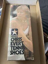 Vintage Lt Blue Con 00006000 Verse Canvas Tennis Shoes Chris Evert Style sz 5 1/2 In Box