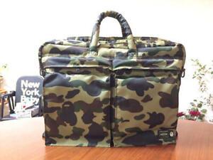 BAPE ×  Poter 1st Camo Shoulder Bag Green A BATHING APE Messenger Bag