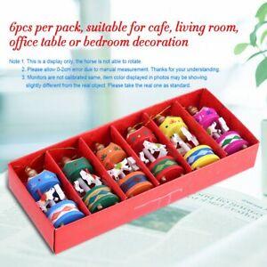 6Pcs Vintage Carousel Horse Wooden Box Children Kids  Merry-Go-Round Xmas Gift
