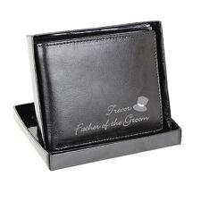 Wedding Favours - Genuine Leather Wallet For Him -  Best Man, Usher, Groom Gifts