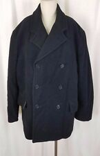 Coldwater Creek Wool Cashmere Insulated Double Breasted Peacoat Jacket Womens 8