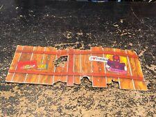 VINTAGE TMNT NINJA TURTLES SEWER LAIR PLAYSET Cardboard Fence 1989