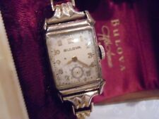 BULOVA LADIES WRIST WATCH    STERLING / G.F   VINTAGE    RUNS