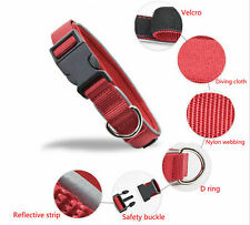 Dog Collar Training Handle M L XL Heavy Duty Dog Collar Adjustable Reflective