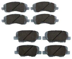 Beck-Arnley Ceramic Front Rear Brake Pads Kit For Mitsubishi Outlander Sport RVR
