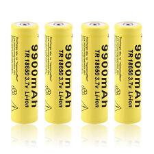 4pcs 3.7V 18650 9900mah Li-ion Rechargeable Battery For LED Flashlight Torch GS
