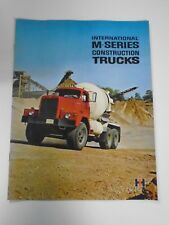 VINTAGE 1965 INTERNATIONAL M SERIES CONSTRUCTION TRUCK DEALERSHIP SALES BROCHURE