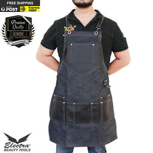 Professional Barber Salon Apron Denim Jeans Gown Cape Hair Cutting Hairdressing