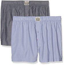 Levi's Levis 300ls Striped Chambray Woven Boxer 2p, Uomo, Blu (Blue Jeans (G6z)