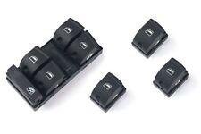 Für Audi A3 8PA A6 4F Q7 4L Fensterheber Schalter Vorne+Hinten Schwarz 10PIN-
