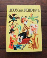 Enfantina Livre enfant années 70 Jeux du jeudi N°2 Danika jeux éducatifs