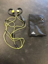 Adidas Sennheiser Over Ear Headphones Gray and Yellow With Carrying Case