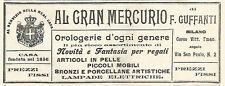 Y2199 Al Gran Mercurio di F. Guffanti - Pubblicità del 1903 - Old advertising