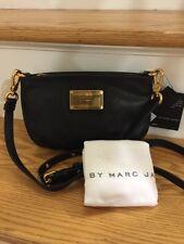 NWT Marc by Marc Jacobs Classic Q Percy Crossbody Clutch Purse Bag Black Gold