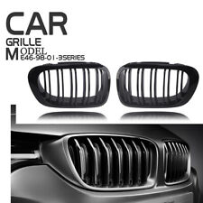 Gloss Black Front Kidney Grille Grill Bumper For BMW 98-01 E46 3-Series 2 Door