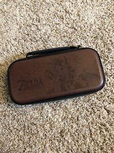 RDS Officially Licensed Zelda Archer Link Nintendo Switch Game Brown Travel Case