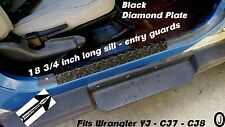 1976-95 Jeep CJ-7 & Wrangler YJ Small Entry Guard Rubber Coated Diamond Plate