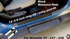 1976-95 Jeep CJ-7 & Wrangler YJ Small Entry Guard++Rubber Coated++Diamond Plate