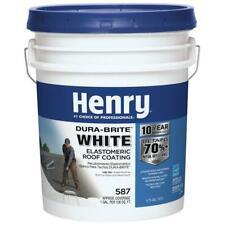 Henry Elastomeric Roof Coating 4.75 Gallon Dura-Brite White Acrylic Reflective