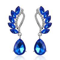 Elegant Wedding Women Wing Crystal Rhinestone Ear Stud Earrings Gifts Jewelry