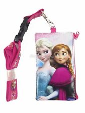 Disney Frozen Pink Lanyard Fastpass ID Ticket Holders with Detachable Coin Purse