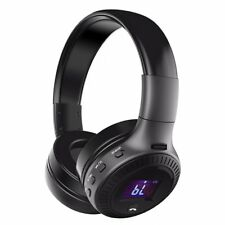Bluetooth Headphone Built MIc FM Rdio Display SD Card CVC 6.0 Foldable Headset