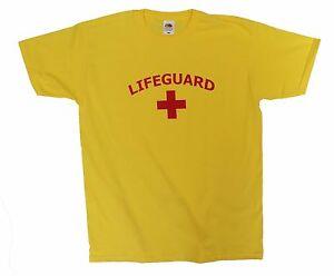 Lifeguard Men`s / Unisex Stag Party Fancy Dress t shirt, cotton t-shirt