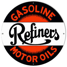 "Refiners Gasoline Reproduction Sign 18""x18'"