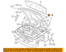 VW VOLKSWAGEN OEM Jetta Hood-Insulator Insulation Pad Liner Clip 1H5863849A01C