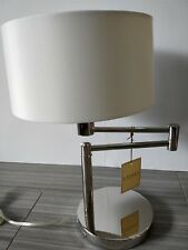 RALPH LAUREN TABLE/DESK LAMP CHROME WEIGHTED SWING ADJUSTABLE SILVER BALANCED