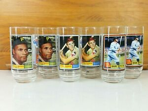 Lot 6 McDonald's 1993 Babe Ruth, Bob Clemente, Brooks Robinson Baseball Glasses