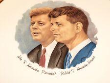 VINTAGE COLLECTORS PLATE JOHN F. KENNEDY, PRESIDENT.  ROBERT F. KENNEDY, SENATOR