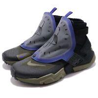 Nike Air Huarache Gripp QS Black Olive Canvas Zipper Men Running Shoe AT0298-001